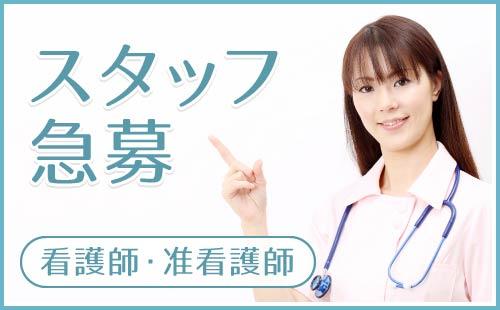 スタッフ急募|看護師・准看護師